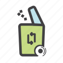 bin, dump, dust bin, garbage, recycle, trash, waste icon