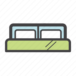 bed, double bed, home, hotel, interior, rest, sleep icon