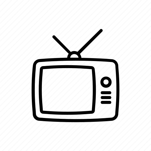 audio, screen, television, tube, tv, video, vintage icon