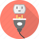 electric, energy, plug, socket icon