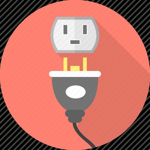 electric, energy, plug, socket icon