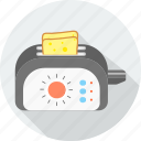 appliance, appliances, food, kitchen, toast, toaster, toaster machine icon