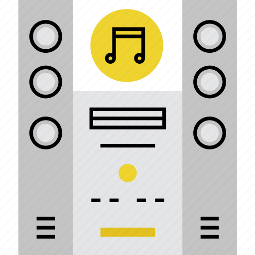 audio, hifi, home, music, sound, stereo, system icon