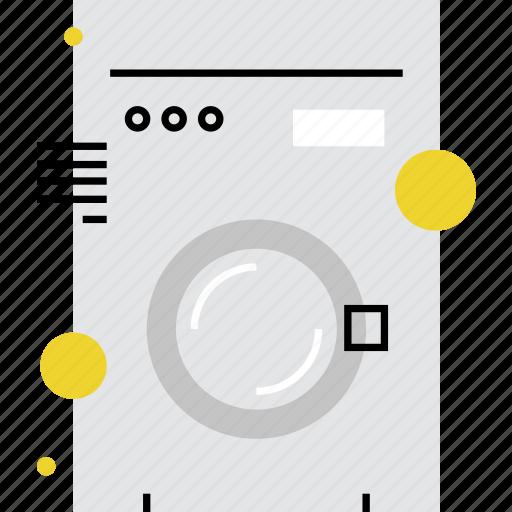 automat, household, laundry, machine, wash, washhouse, washing icon