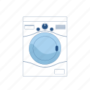 appliance, cleen, clothes, machine, washing, water icon