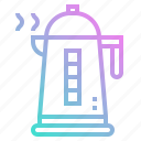 boil, boiler, cook, fireplace, pot icon