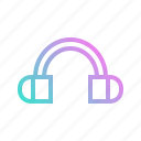 audio, earphones, headphone, sound icon