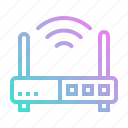 communications, connection, internet, modem, wireless icon