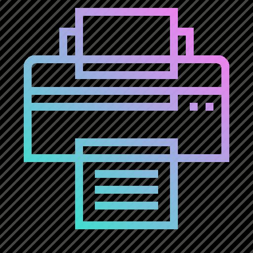 ink, paper, print, printer, printing, technology icon