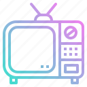 entertainment, screen, television, tv, vintage icon