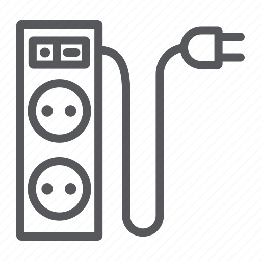 connector, electric, energy, extension, plug, socket icon