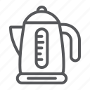 electric, kettle, kitchen, teapot, utensil icon