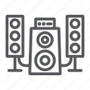 audio, disco, loudspeaker, music, speaker, system icon