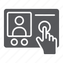 communication, hand, intercom, person, phone, telephone icon
