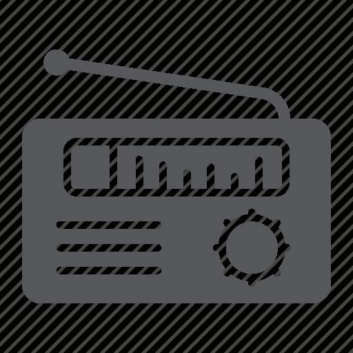 broadcast, media, radio, receiver, speaker icon