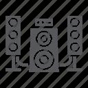 audio, disco, loudspeaker, music, speaker, system icon
