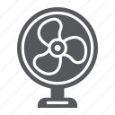 air, cooler, electric, fan, propeller, table icon