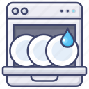 appliance, dishwasher, kitchen icon