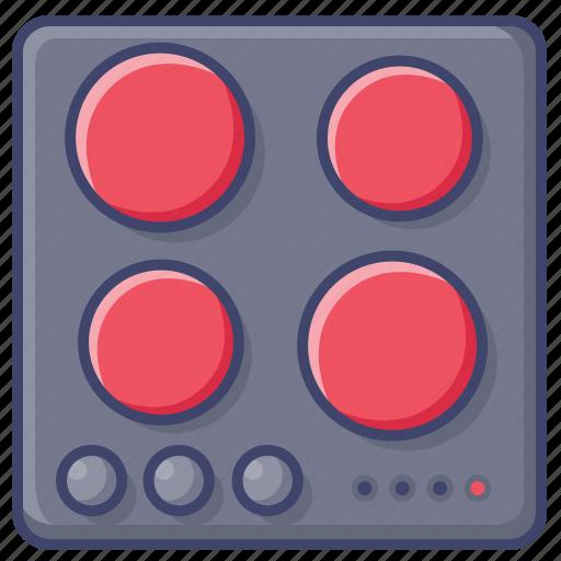 electro, kitchen, stove icon