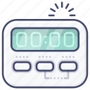 digital, kitchen, stop, timer icon