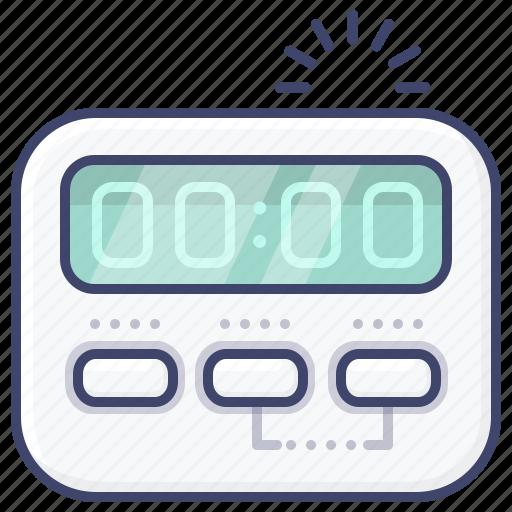 digital, kitchen, stop, timer icon