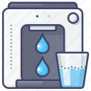 dispenser, kitchen, purifier, water icon