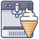 cream, ice, machine icon