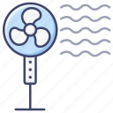 cooler, fan, pedestal icon