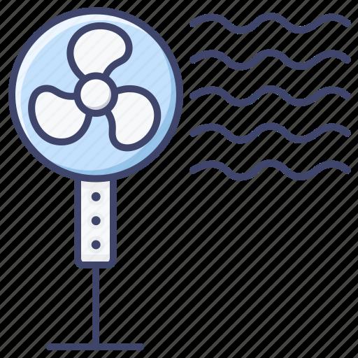 cooler, fan, pedestal icon