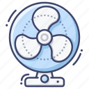 cooler, desk, fan, table icon