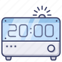 alarm, clock, digital, time icon