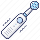 electric, healthcare, toothbrush icon
