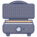 iron, kitchen, maker, waffle icon
