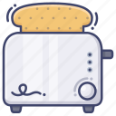 breakfast, kitchen, toaster icon