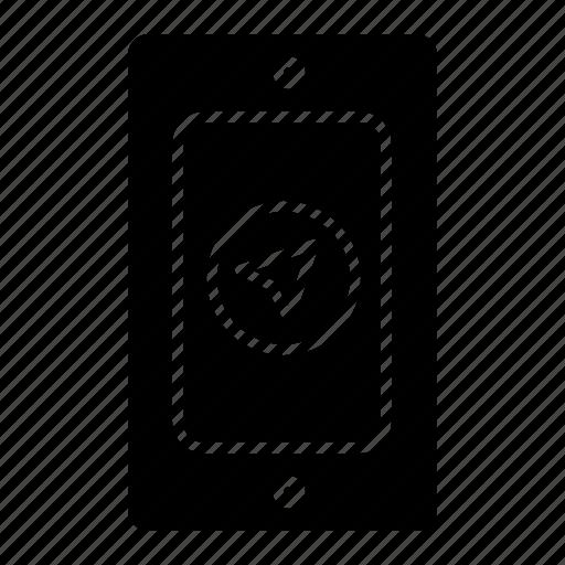 mobile, pin, rainy icon