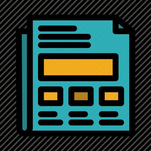 Paper, presentation, report, sheet icon - Download on Iconfinder