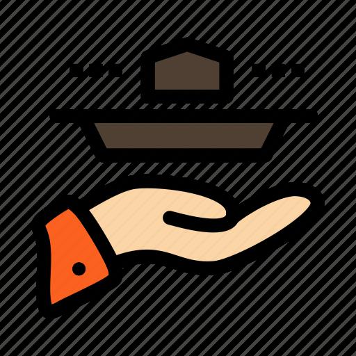 dinner, lunch, resturant, serve, waiter icon