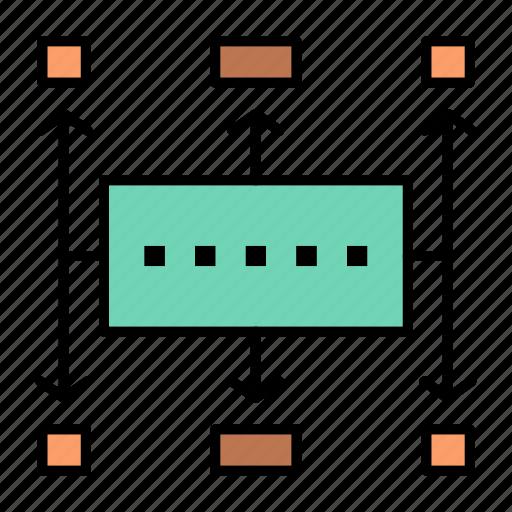 business, modern, planning, workflow icon