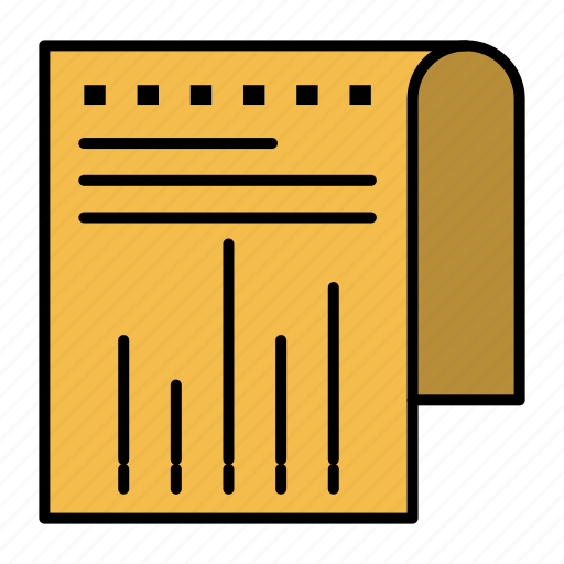business, financial, modern, report icon