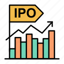 business, initial, ipo, modern, offer, public icon
