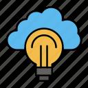 bulb, focus, idea, light, success