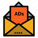 ad, advertising, email, letter, mail