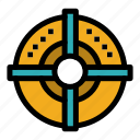 arrow, point, strategy, target icon