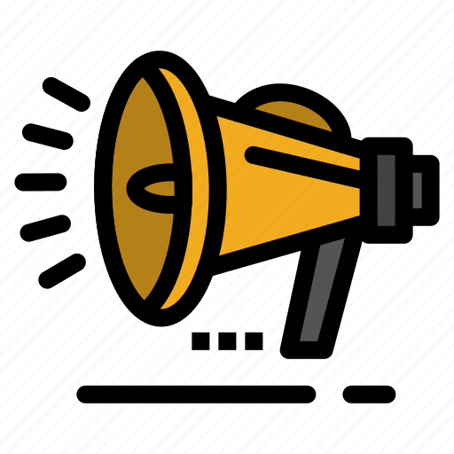 announcement, loud, speaker, voice icon