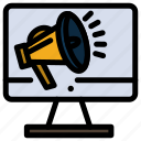 high, loudspeaker, speaker, voice, volume icon