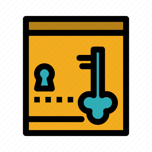 key, lock, locker, safe icon