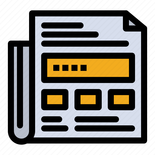 Ad, headline, newspaper, paper icon - Download on Iconfinder