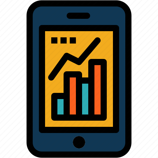 Analytics, graph, infographic, mobile icon - Download on Iconfinder