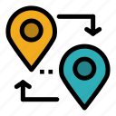 location, map, pointer, travel icon