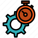 gear, setting, time, timer, watch icon